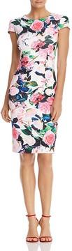 Betsey Johnson Floral-Print Scuba Sheath Dress