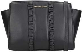 Michael Kors Shoulder Bag In Black Leather - BLACK - STYLE