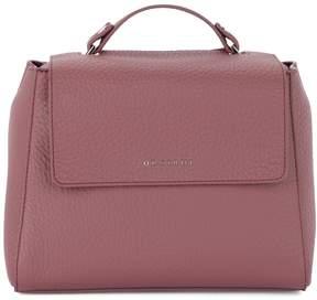 Orciani Sveva Small Terracotta Tumbled Leather Handbag