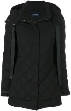 Armani Jeans quilted hooded coat