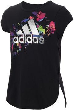 adidas Short Sleeve Crew Neck T-Shirt-Big Kid Girls