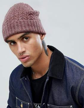 Asos Lambswool Fisherman In Pink