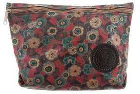 Carlos Falchi Printed Leather Pouch