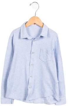 Il Gufo Boys' Grid Button-Up Shirt
