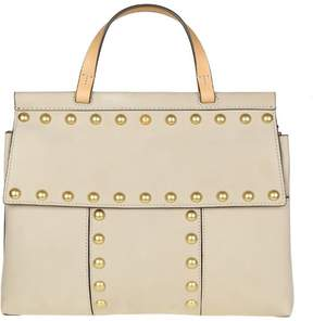 Tory Burch block T In Suede With Applied Studs - CLAY - STYLE