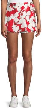 J.o.a. Wrap-Front Floral Shorts