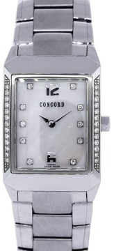 Concord Carlton 0310707 Stainless Steel Diamond Quartz 23mm Womens Watch