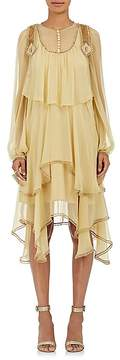 Chloé Women's Ruffle Silk Shift Dress