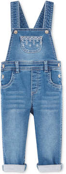 First Impressions Embroidered Denim Overall, Baby Girls (0-24 months), Created for Macy's