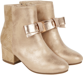Monsoon Premium Metallic Bow Boots