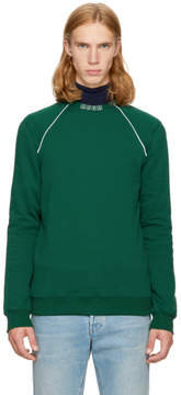 MSGM Green Logo Collar Sweatshirt