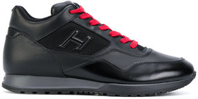 Hogan contrast laced sneakers