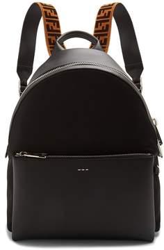Fendi Leather logo-detail backpack