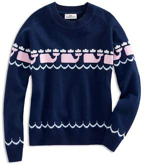 Vineyard Vines Girls' Intarsia Whale-Print Sweater - Big Kid
