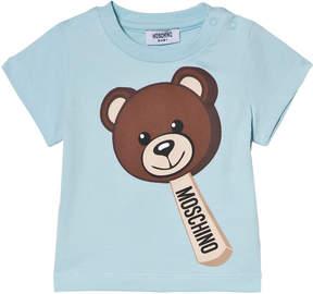 Moschino Blue Bear Ice Cream Print T-Shirt