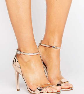 Asos HANG TIME Wide Fit Barely There Heeled Sandals