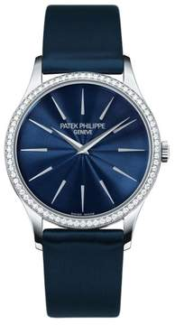 Patek Philippe Calatrava 4897G-001 33mm 18K White Gold Diamond Watch