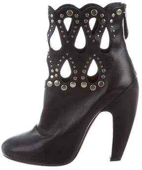 Alaia Laser Cut Studded Boots