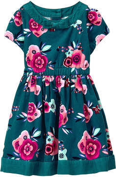 Gymboree Green Floral Corduroy Fit & Flare Dress - Infant & Toddler
