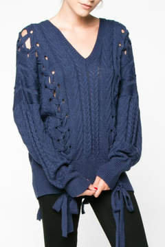 Everly Lace Up Sweater