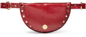 See by Chloe Kriss Eyelet-embellished Patent Textured-leather Belt Bag - Burgundy