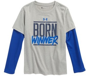 Under Armour Toddler Boy's Born Winner Slider Layered T-Shirt