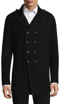 John Varvatos Suede Double Breasted Jacket