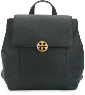 Tory Burch logo plaque backpack - BLACK - STYLE