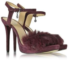 Michael Kors MICHAEL Womens Faye Sandal Leather Open Toe Special Plum