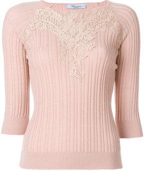 Blumarine lace overlay jumper