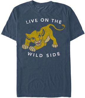 Fifth Sun Navy Heather Simba 'Wild Side' Lion King Tee - Men