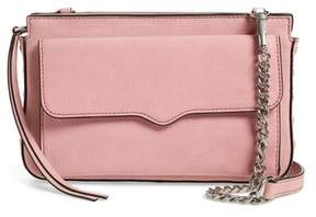 Rebecca Minkoff Medium Bree Nubuck Crossbody Wallet - PINK - STYLE