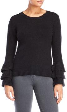 Cliche Tiered Ruffle Cuff Sweater