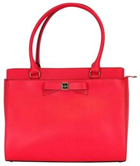 Kate Spade Hot Coral w/ Bow Tote - PINK - STYLE