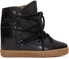 Isabel Marant Black Sheepskin Nowles Boots