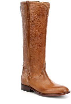 Lucchese Francesca Embossed Riding Boots