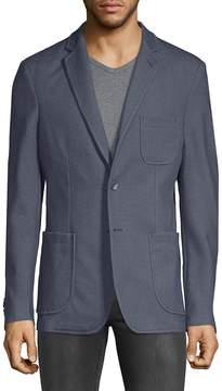 Saks Fifth Avenue BLACK Men's Tonal Elbow Sport Jacket
