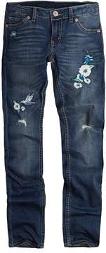 Levi's Girls 7-16 711 Embroidered Flower Skinny Jeans