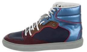 Balenciaga Colorblock Suede Sneakers