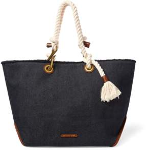 Polo Ralph Lauren Braided-Rope Canvas Tote
