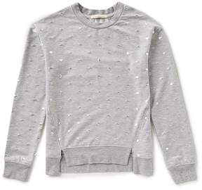 Copper Key Big Girls 7-16 Foiled Dotted Knit Top