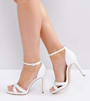 New Look Wide Fit Satin Ankle Strap Heeled Sandal