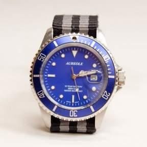Blade + Blue Vintage Aureole Blue Diver&|39;s Watch