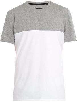 Rag & Bone Contrast-panel cotton-jersey T-shirt