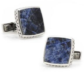 Ravi Ratan Sterling Classic Scaled Lapis Cufflinks