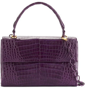 Nancy Gonzalez Medium Double-Gusset Crocodile Bag