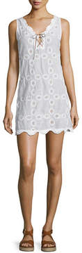 Letarte Doily Sleeveless Crocheted Shift Dress