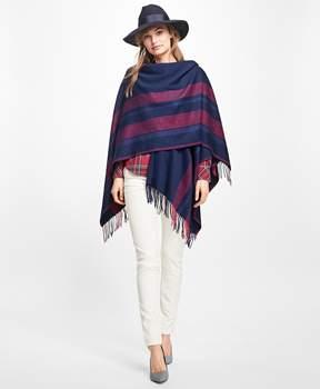 Brooks Brothers Stripe Wool Ruana