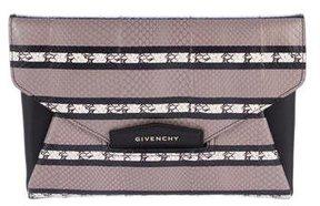 Givenchy Medium Antigona Snakeskin Clutch