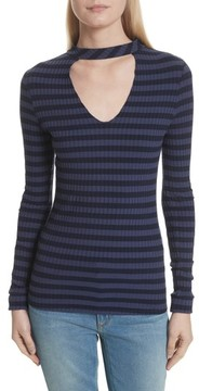 Twenty Women's Stripe Cutout Tee